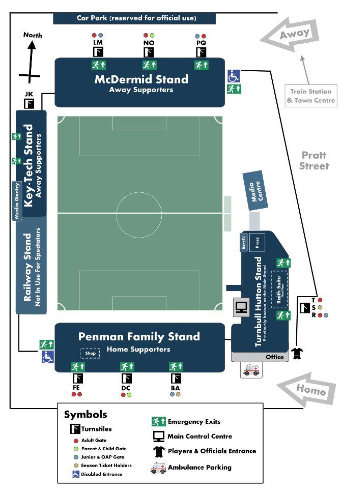 Starks Park Stadium Map