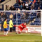 David Hutton's beaten but Jamie Walkers' effort hits the post