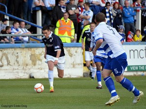 Jamie Walker sets off towards goal