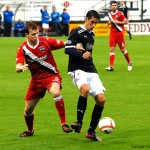 Brian Graham on the ball with Scott Boyd in attandance