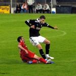 Second half action of Pat Clarke