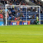 Keeper Cuthbert goes the wrong way at the penalty