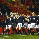 Celebrations for Greig's late goal