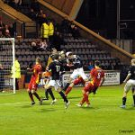 Late action in the Pars' box