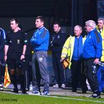 The Gaffer looks on