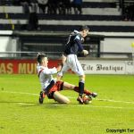Riki Lamie's well timed tackle on Brian Graham