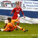 Derek Gaston saves from Brian  Graham