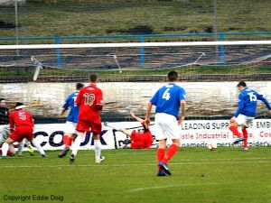 Greg Stewart hits the equaliser