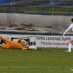 Laidlaw makes an early save.