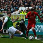 Cardle prepares to cross into the box for Moon to score.