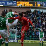 Forster prevents a through ball to Callachan.