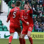 Dougie and Grant celebrate the second goal,