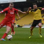 Spence drives towards goal