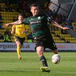 Ryan Conroy drives towards goal.