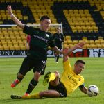 Debutant Barrie McKay is fouled on route to goal.
