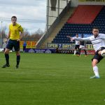 Conroy fires at goal.