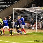 22 Stewart bulges the net