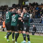 Rovers celebrate the equaliser
