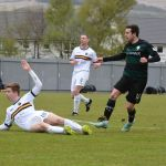 Ryan Conroy goes close