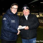 John Fettes with winner Brian marshall £325 for ticket 13454