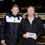 50-50 winner Tom Davidson  £390 for ticket 36010