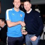 MotM Lewis  with match Sponsor Dean Carr