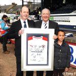 Shirt presentation to sponsors Fife Hyundai