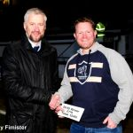 Ian Ferguson presents Greig Codd with £766 for 50-50 ticket  52450