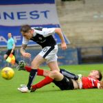 Penalty appeal as Mc Manus is tackled by Lewis Martin - 