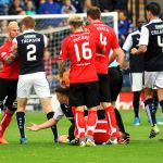 HIGGINBOTHAM loses his composure - 