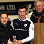 match sponsor Jim McMillan Club with MotM Ross Matthews
