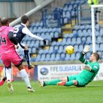 13 min - Ryan Hardie close range shot blocked by keeper Bell 