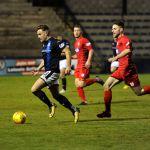 Stark's Park - Kirkcaldy - Fife -  Raith v Queens Park - Lewis Vaughan makes a run from Raith half to set up 2nd goal -  credit- Fife Photo Agency