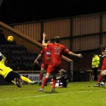 Stark's Park - Kirkcaldy - Fife -  Raith v Queens Park - 82 - great save from WHITE to deny BUCHANAN credit- Fife Photo Agency