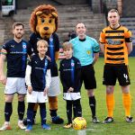 Kai Davidson and Cameron Meldrum enjoing their day as mascots