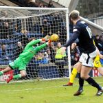 Raith v Ayr - 37mins -  Ruddy makes excellent save to deny DAVIDSON - 