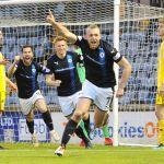 Raith v Ayr - GREIG SPENCE celebrates scoring - credit- Fife Photo Agency