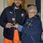 Life long Rovers fan, Jane O'Harrow, chose Aaron Lennox as the Man of the Match