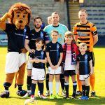 Matthew Sorrell, Thomas Brawley, Leo Simpson and Jack Stocks all enjoying their day as mascots.