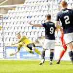 Raith v Queens Park - Liam Buchanan shot saved 1st minute - 