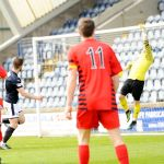 Raith v Queens Park - Liam Buchanan hits the crossbar - 