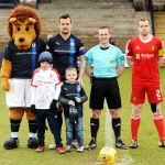 Owen Drummond and Adam Mackie enjoying their day as mascots