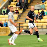 Raith v Dunfermline  - Grant Gillespie watched his shot hit the back of the net - GOAL!credit- Fife Photo Agency