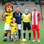 Tom Beaugie enjoying his day as the mascot