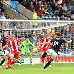 Raith v East Fife -  Nathan Flanagan sends his shot into the South stand - credit- Fife Photo Agency