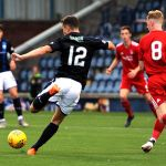 Raith v Aberdeen Colts -ROSS MATTHEWS shot just wide - credit- Fife Photo Agency