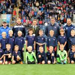 Bayside FC enjoying a day out to Stark's Park