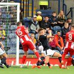 Raith v East Fife -  Ex Raith player JONNY COURT shoots over -  credit- Fife Photo Agency