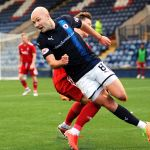 Raith v Aberdeen Colts -Grant Gillespie fouled - credit- Fife Photo Agency