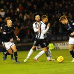 Raith v Dunfermline - Grant Gillespie passes to Tony Dingwall -   credit- Fife Photo Agency